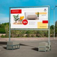 """Panneau d'affichage de sol """"Techno Mobil"""" pour bâche"""