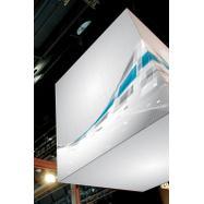 """Bâche publicitaire pour système d'accroche Stretch Frame """"Cube"""" et impression numérique"""