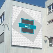 """Structure en aluminium """"Wall"""" pour bâche publicitaire"""