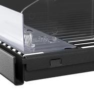 Rail avec bordure pour séparateur pour tablette grille