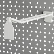 Clip tête de broche double pour panneau perforé