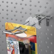 Clip butoir pour broches doubles panneaux perforés
