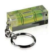 Niveau à bulle avec porte-clés, bulle tubulaire verte