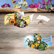 """Carte pliante """"Sauvez les abeilles"""" avec graines"""