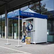 Cabine de test PCR mobile pour extérieur
