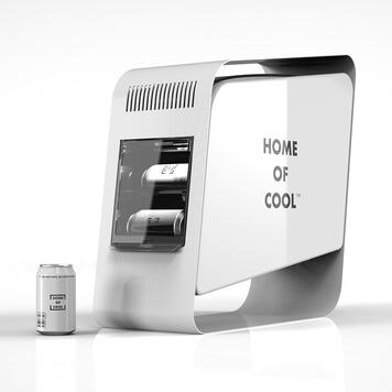 "Réfrigérateur de canettes POS Cooler ""Home of Cool"""