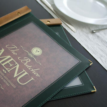 "Protège-menu ""Wood"""