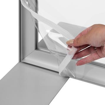 Bâche transparente pour cadre en aluminium