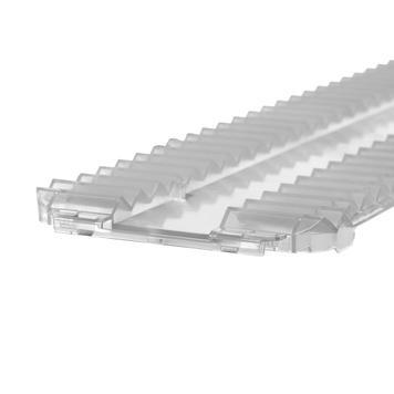 Dispositif anti-glisse pour système de séparation de compartiments Perfekta, largeur 95 mm