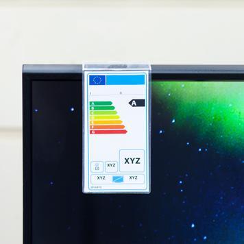 Pochette pour étiquettes énergétiques pour écran