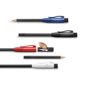 """Le """"crayon parfait"""" de Faber Castell, avec taille-crayon et gomme à effacer intégrés"""