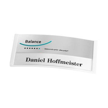 "Badge ""Balance Alu-Print"" avec impression incluse"
