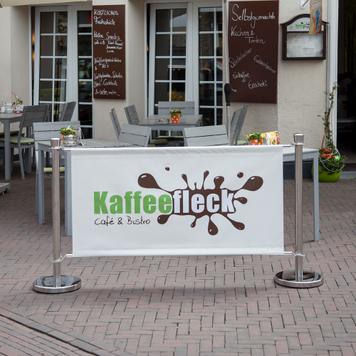 """Banderole pour poteau de balisage """"Café"""""""