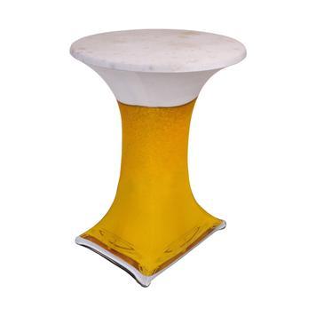 """Housse """"Samba"""" pour table haute; motif: bière"""
