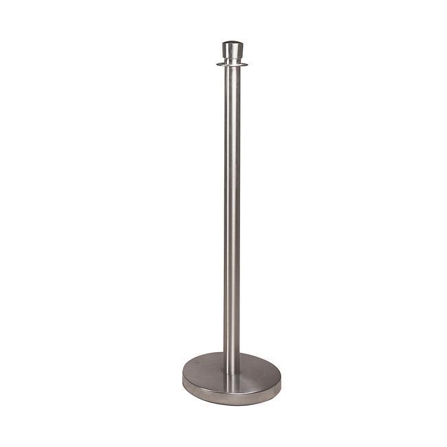 Poteau de balisage, surface effet acier inoxydable, 22 kg