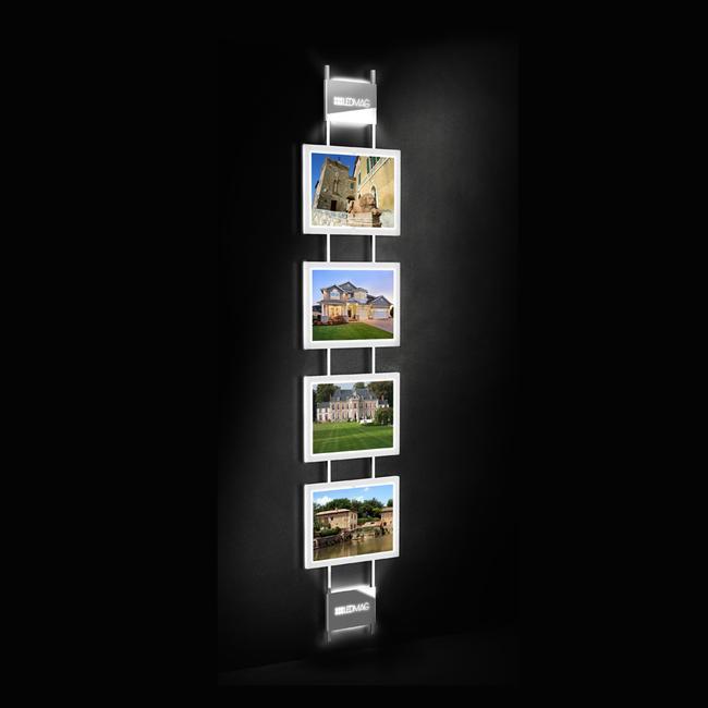 Système de cadres LED magnetiques, support mural