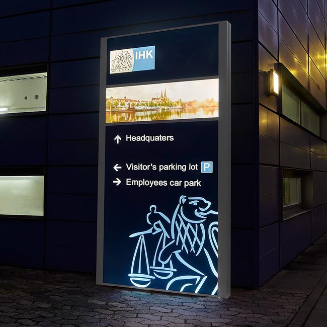 """Totem publicitaire extérieur à LED """"Madrid LED"""""""