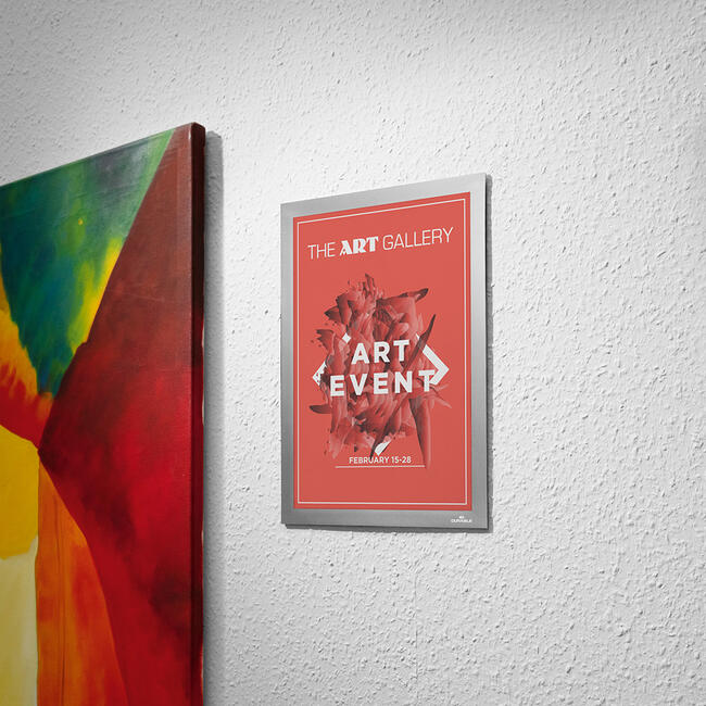 Pochette magnétique Duraframe® Wallpaper - fixation au mur