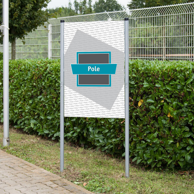 """Système de fixation de bâche acier """"Pole"""""""