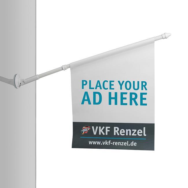 Support de drapeau en plastique, Ø 18,5 mm, avec ventouse et tube