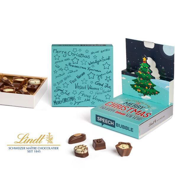 Lindt Mini Pralinés dans Pop Up de Noël