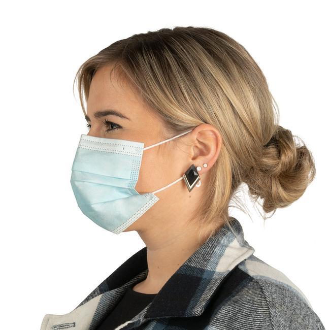Support 3D en silicone pour masque de protection (non inclus)