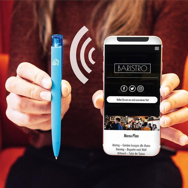 "Stylo à bille rétractable ""Trinity GUM NFC"" avec NFC TAG intégré"