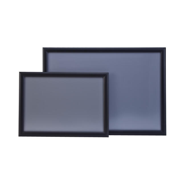 Cadre clic-clac, profilé 25 mm, anodisé noir, coins à onglet