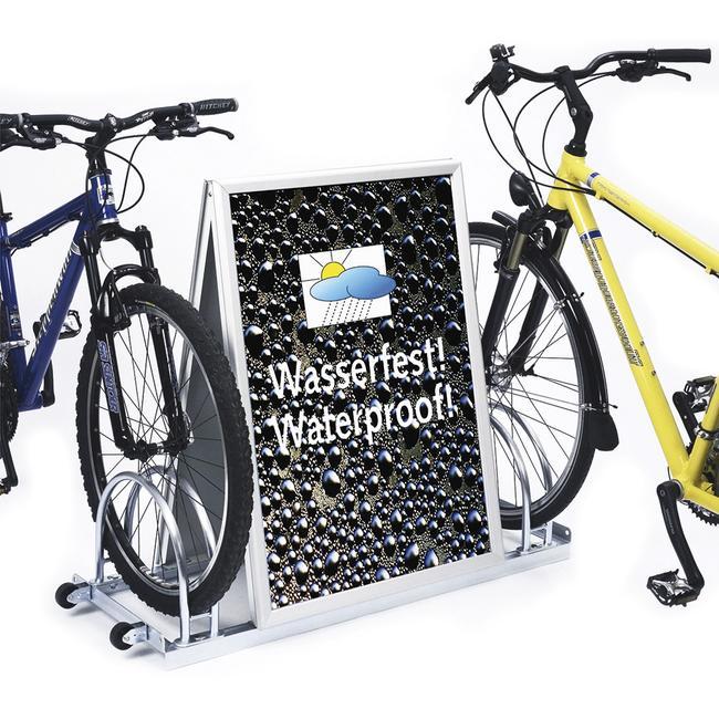 Garage à vélos publicitaire