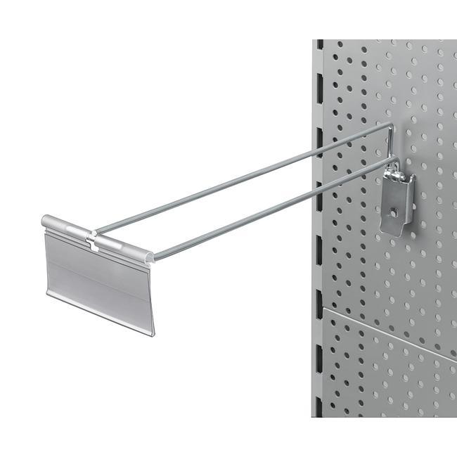 Tête de broche individuelle pour panneau perforé avec porte-étiquette