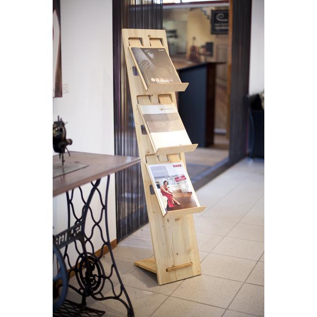 "Porte-brochures ""H2"" en bois"