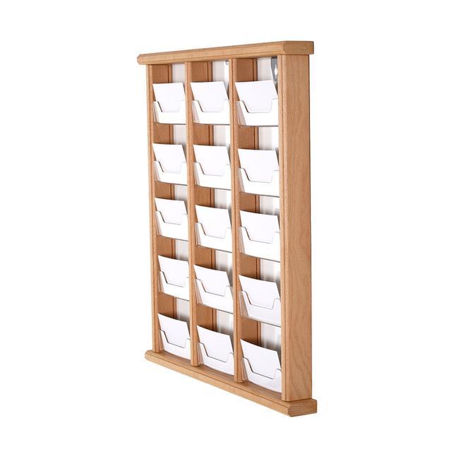 Porte-cartes de visite en bois