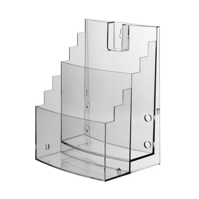 """Porte-brochure 2 compartiments """"Vicia"""", à extension latérale"""