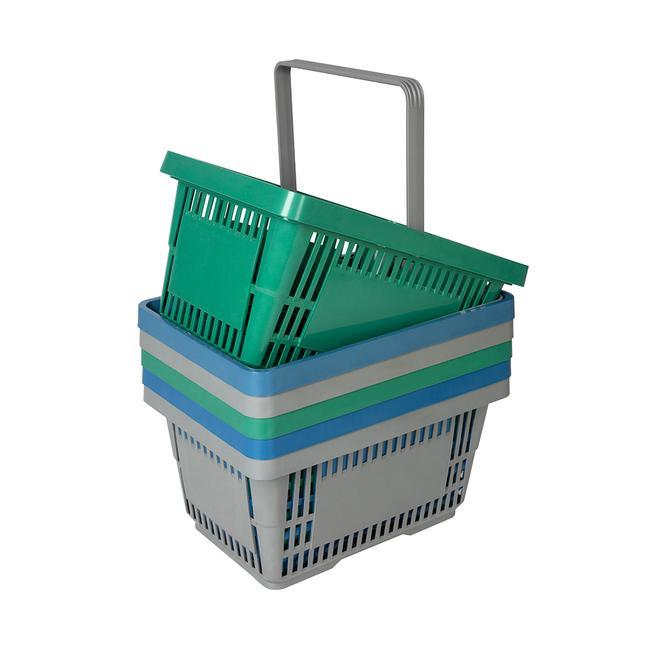 Panier libre-service en plastique recyclé