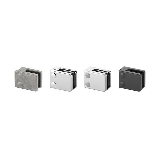 Attache plate pour tablettes en verre 6, 8,10 und 12 mm