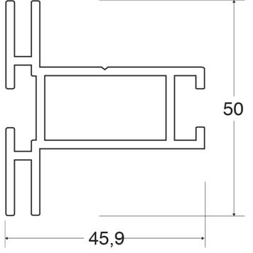 "Profilé de longueur standard ""Stretch Rahmenprofil 50"""