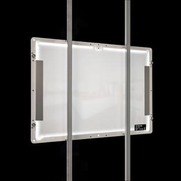 Système de cadres LED magnetiques, support au sol