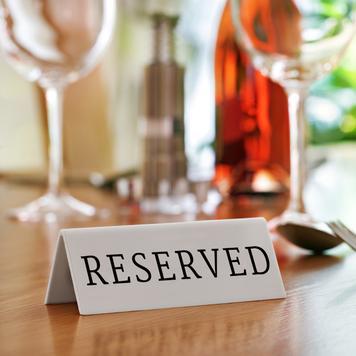 Chevalet de table « Réservé »