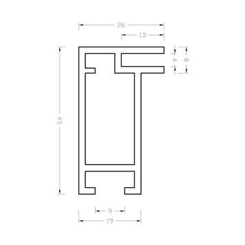 "Profilé de longueur standard ""Stretch Rahmenprofil 26"""