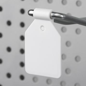 Clip tête de broche pour crochet panneau perforé
