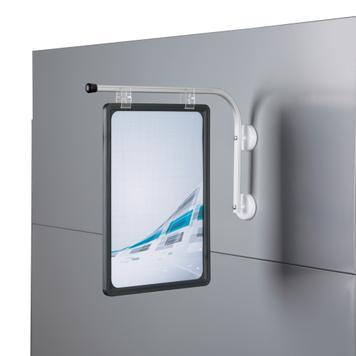 Bras-présentoir en aluminium avec aimants