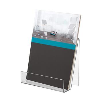 Support livre en verre acrylique