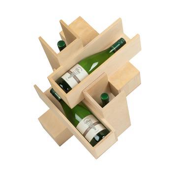 """Présentoir bouteilles de vin """"Blanc de Blanc"""""""