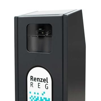 """Enregistreur de QR Code """"RenzelREG"""" pour poteaux de balisage"""