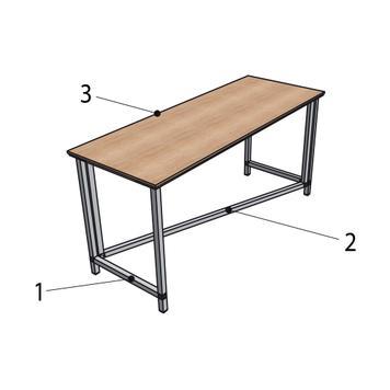 """Table de présentation flexible """"Construct"""""""