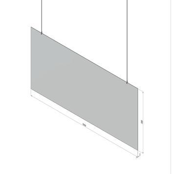 """Suspension de protection en verre acrylique """"Spuckwand"""""""