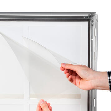 """Chevalet publicitaire imperméable """"Broker"""" avec profilé 35 mm"""