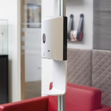 """Distributeur de solution hydroalcoolique """"Sensor Wall"""" pour parois de séparation et profilés Quattro"""