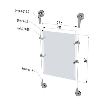 """Kit câble tendu """"Sol/sol"""" ou """"Plafond/sol"""""""