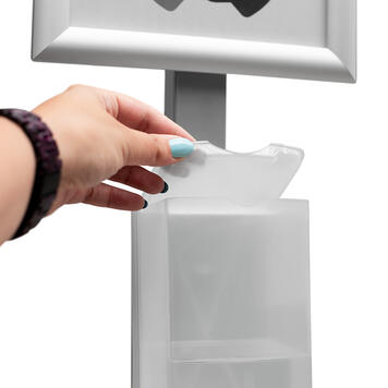 "Distributeur de solution hydro-alcoolique ""Sensor-Steel"""
